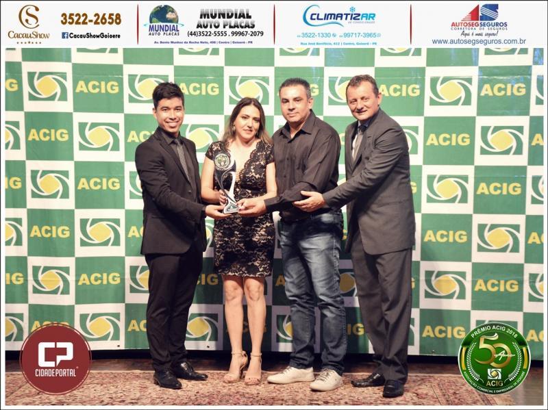 Motores Elétricos Goioerê recebe prêmio Acig Melhores do Ano 2018