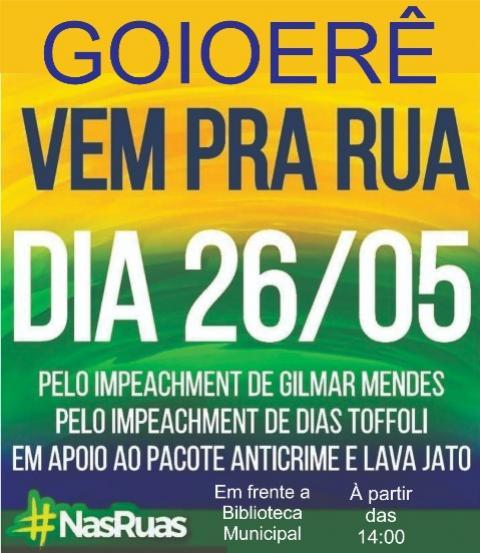 A luta continua: Ato público em prol ao presidente Jair Bolsonaro será domingo, 26 às 14hrs em Goioerê