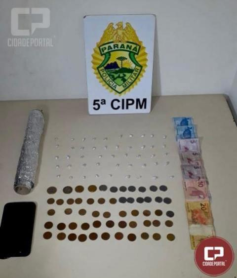 Equipes da polícia militar de cianorte prendem casal por tráfico de drogas