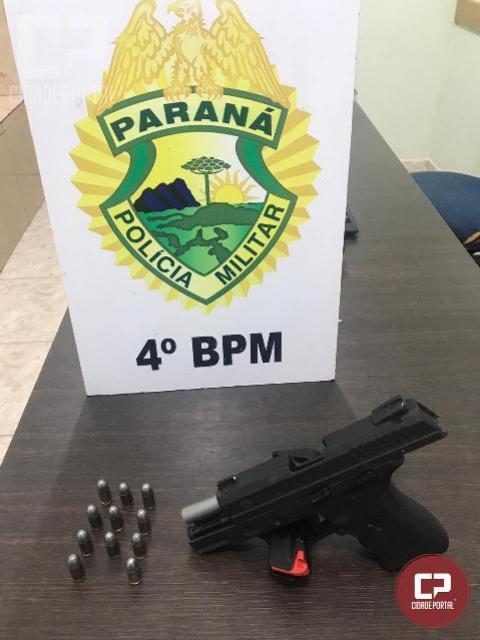 Polícia Militar prende homem por porte ilegal de arma de fogo em Maringá
