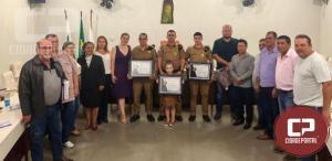 Policiais Militares do 7º BPM recebem moção de aplausos da Câmara Municipal de Cruzeiro do Oeste