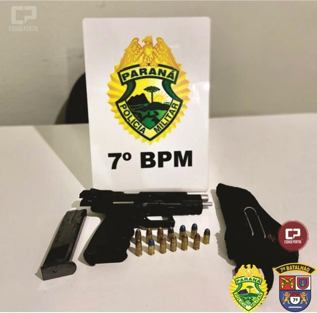 Policiais Militares de Tapejara detém homem e apreendem arma de fogo