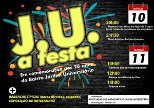Associação de moradores do Jardim Universitário promove J.U. a Festa