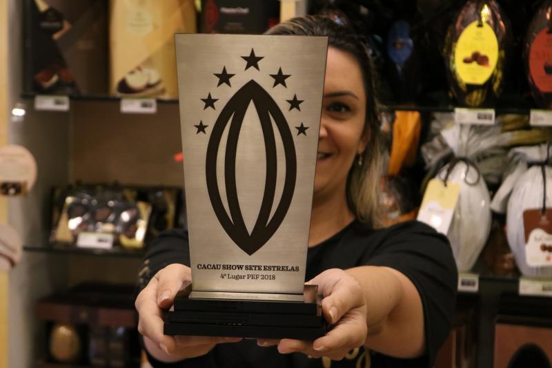 Cacau Show de Goioerê recebe premio de 4º lugar no PEF 2018