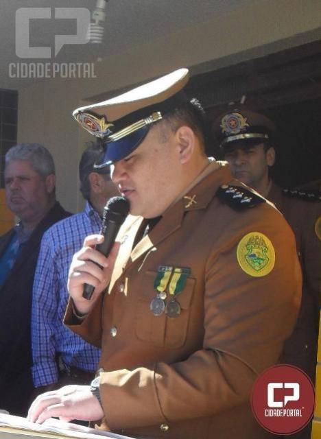 Oficial do 7º BPM é indicado ao posto de Major e recebe os cumprimentos dos oficiais e praças da unidade