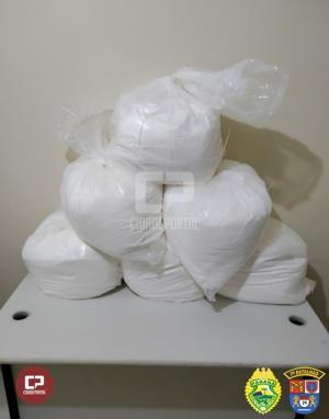 Polícia Militar apreende 150 kg de cocaína em Cidade Gaúcha