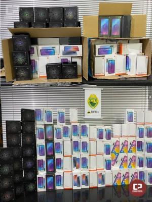 Polícia Rodoviária Estadual de Cruzeiro do Oeste apreende produtos eletrônicos em ônibus de linha