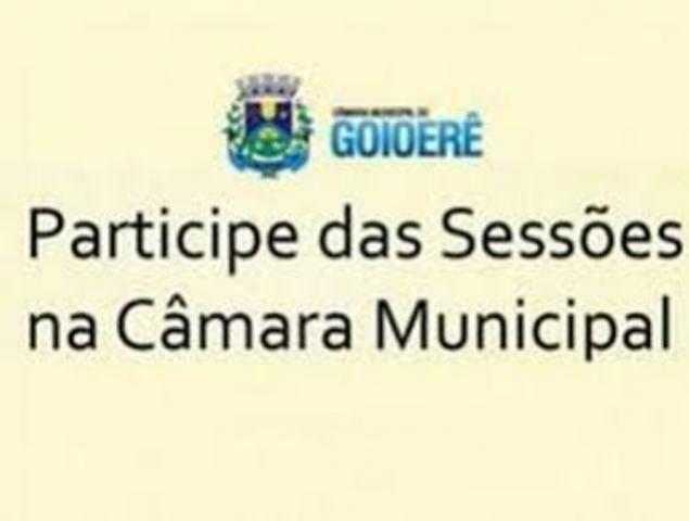 Câmara Municipal de Goioerê realiza Sessão Extraordinária nesta segunda, 29 a partir da 11h00