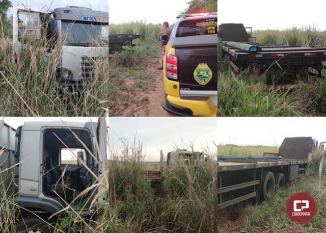 PRE de Cianorte recupera caminhão furtado antes mesmo de registrar o furto