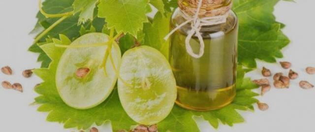 Óleo de semente de uva para tratamento de pele e cabelos