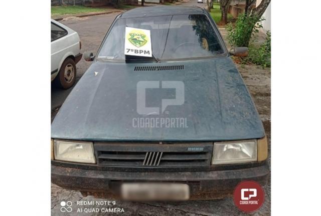 Fiat Uno furtado em Goioerê foi recuperado na cidade de Moreira Sales