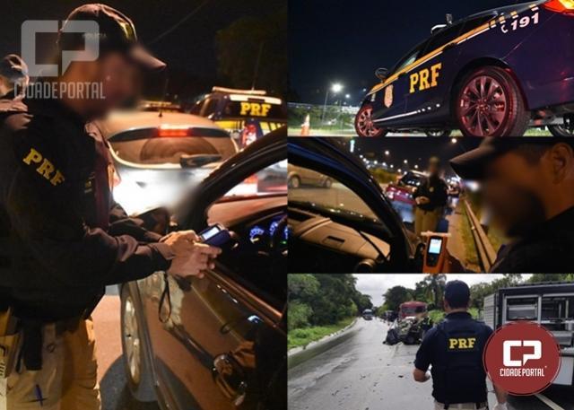 PRF flagra um motorista bêbado por hora durante o Carnaval no Paraná