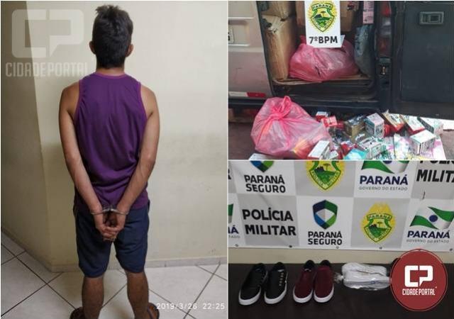 Policiais do 7º BPM apreendem contrabando, capturam foragido da justiça e prendem autores de furto