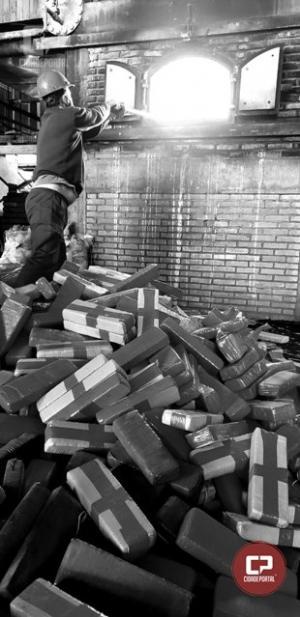 DENARC de Cascavel incinerou 4 mil quilos de drogas nesta quarta-feira, 27