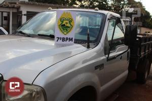 Equipes Militares agem rápido recuperam veículos, defensivos agrícolas e prendem um dos bandidos