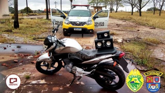 Polícia Militar recupera motocicleta roubada em Cruzeiro do Oeste