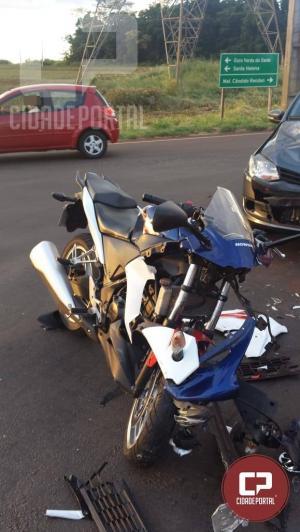 Motociclista fica gravemente ferido em acidente no perímetro urbano de Toledo