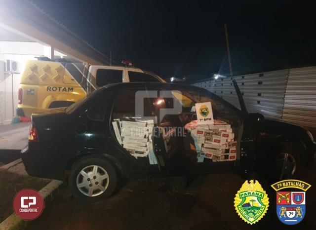Policiais Militares do 7º BPM apreendem cerca de 9 mil maços de cigarros contrabandeados em Cruzeiro do Oeste