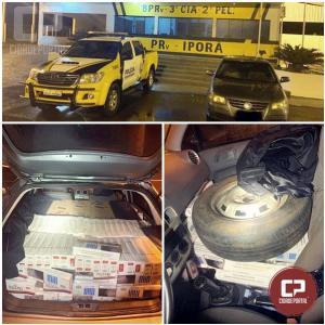 Polícia Rodoviária Estadual de Iporã apreende veículo carregado de cigarros contrabandeados