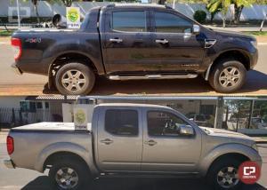 Policiais Militares do 7º BPM apreenderam dois veículos preparados para contrabando em Nova Olímpia