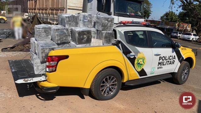 PRE de Iguaraçu apreende mais de 1,3 toneladas de maconha