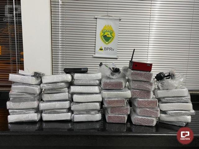 PRE de Cruzeiro do Oeste apreende mercadorias contrabandeadas do Paraguai