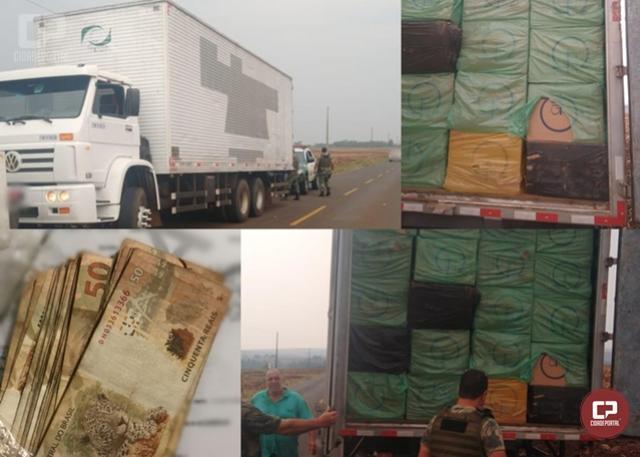 Polícia Ambiental apreende veículo carregado com cigarros contrabandeados nas proximidade de Goioerê
