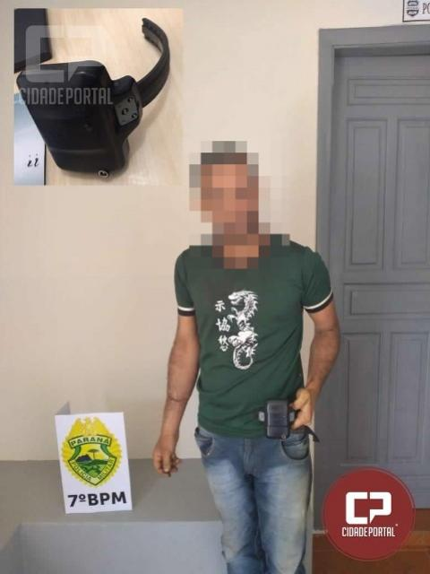 Polícia Militar prende condenado monitorado que danificou e retirou tornozeleira em Moreira Sales