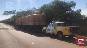 Polícia Rodoviária Estadual de Cascavel recupera carreta roubada de Umuarama-PR