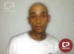 Uma pessoa foi presa pela Polícia Militar de Goioerê após tentar furtar bateria de caminhão