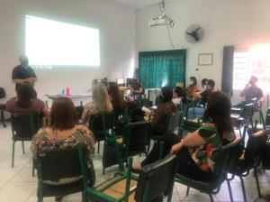 Setor Financeiro reuni-se com os novos diretores no auditório do NRE de Goioerê