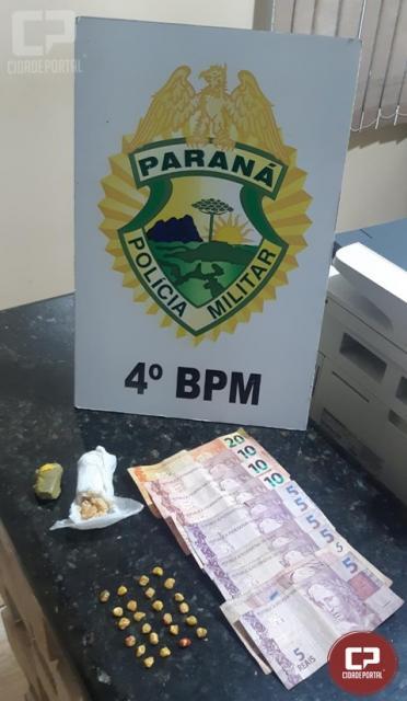 Polícia Militar realiza prisão por tráfico de drogas em Paiçandu