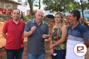 Douglas Fabrício prestigiou Festa do Carneiro  Recheado e vistoriou obras de Arena Esportiva