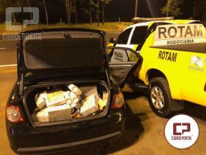 Equipe Rotam 3ª Cia/BPRv apreende veículos carregados com contrabando
