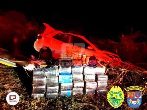 Polícia Militar apreende mais de 360 kg de maconha após acidente em Tapejara