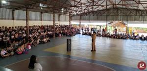 7º BPM realiza palestra de trânsito e participa do lançamento do programa Bem Estar em Rondon
