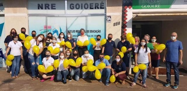 NRE de Goioerê realiza ato em prol da campanha Setembro Amarelo