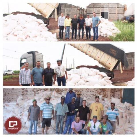 Quarto Centenário recebe 153 toneladas de corretivo calcário dolomítico