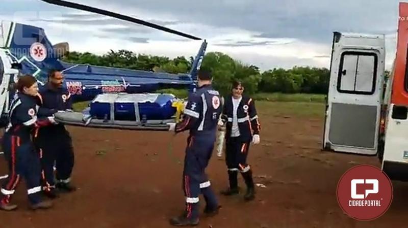 Recém nascido prematuro é transferido de Goioerê para Campo Mourão pelo Aeromédico
