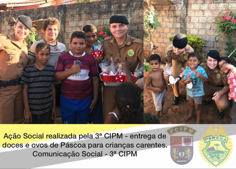 Policiais Militares de Loanda promovem ação social de Páscoa para crianças carentes