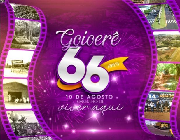 Prefeitura divulga programação em comemoração do Aniversário de 66 anos de Goioerê