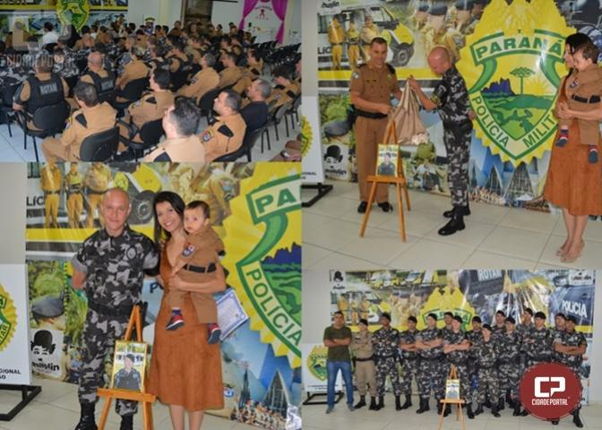 Soldado Pedro é homenageado como Policial do mês em Maringá