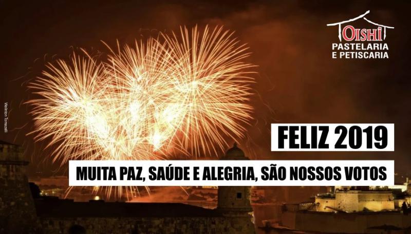 A família Oishi Pastelaria e Petiscaria deseja um Novo Ano de Sucesso e Paz!