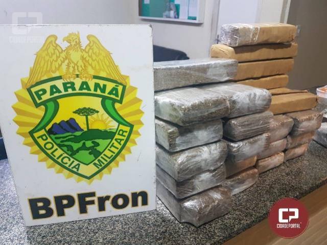 BPFron apreende maconha e haxixe durante abordagem em Capitão Leônidas Marques/PR