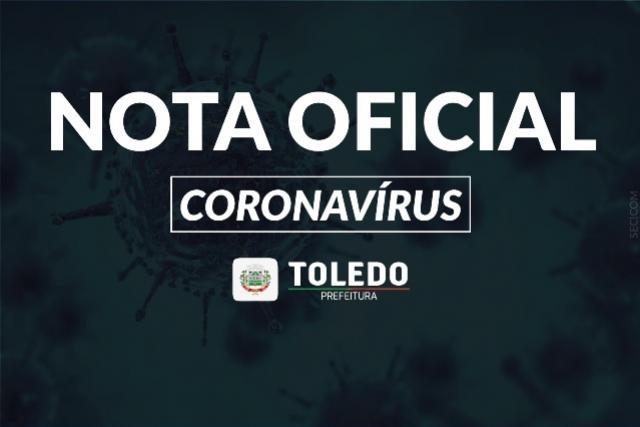 Município de Toledo registra mais três óbitos de coronavírus