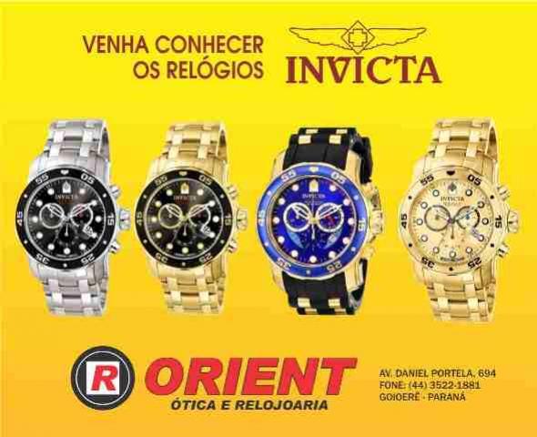 790c686d578 Promoção fantástica  Chegaram na Orient os relógios Invicta ...