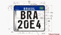 Veículos brasileiros terão placas padrão Mercosul em 2017